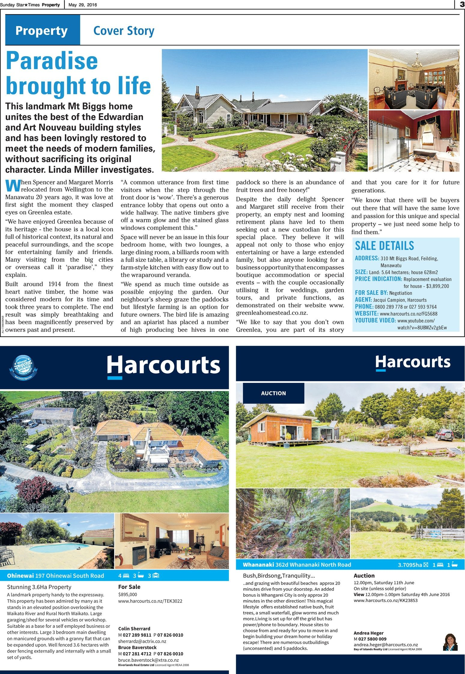 Sunday Star Times Upper North Island Real Estate - Read