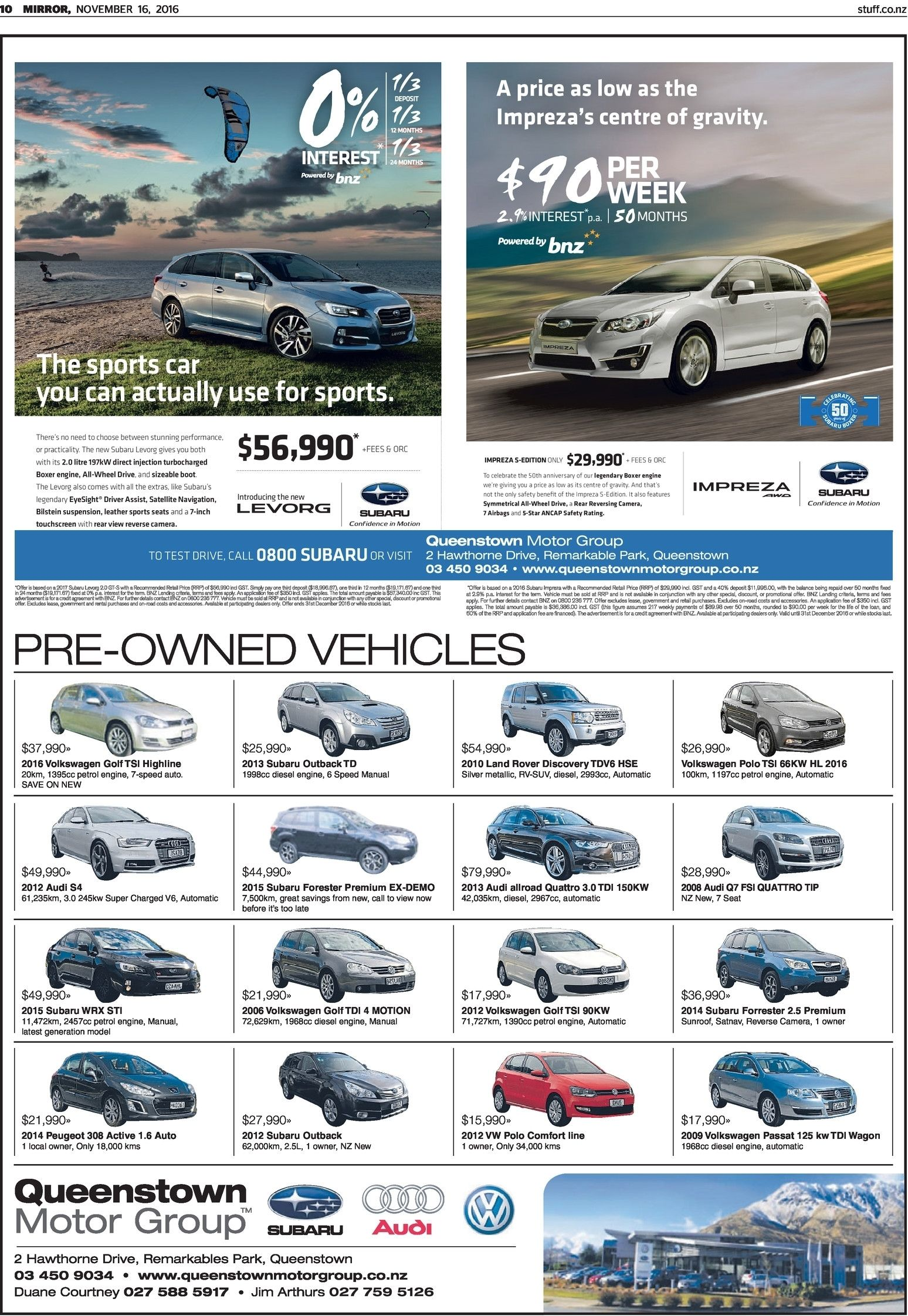 Wanaka News Read Online On Neighbourly Subaru 2 5l Engine Schematic