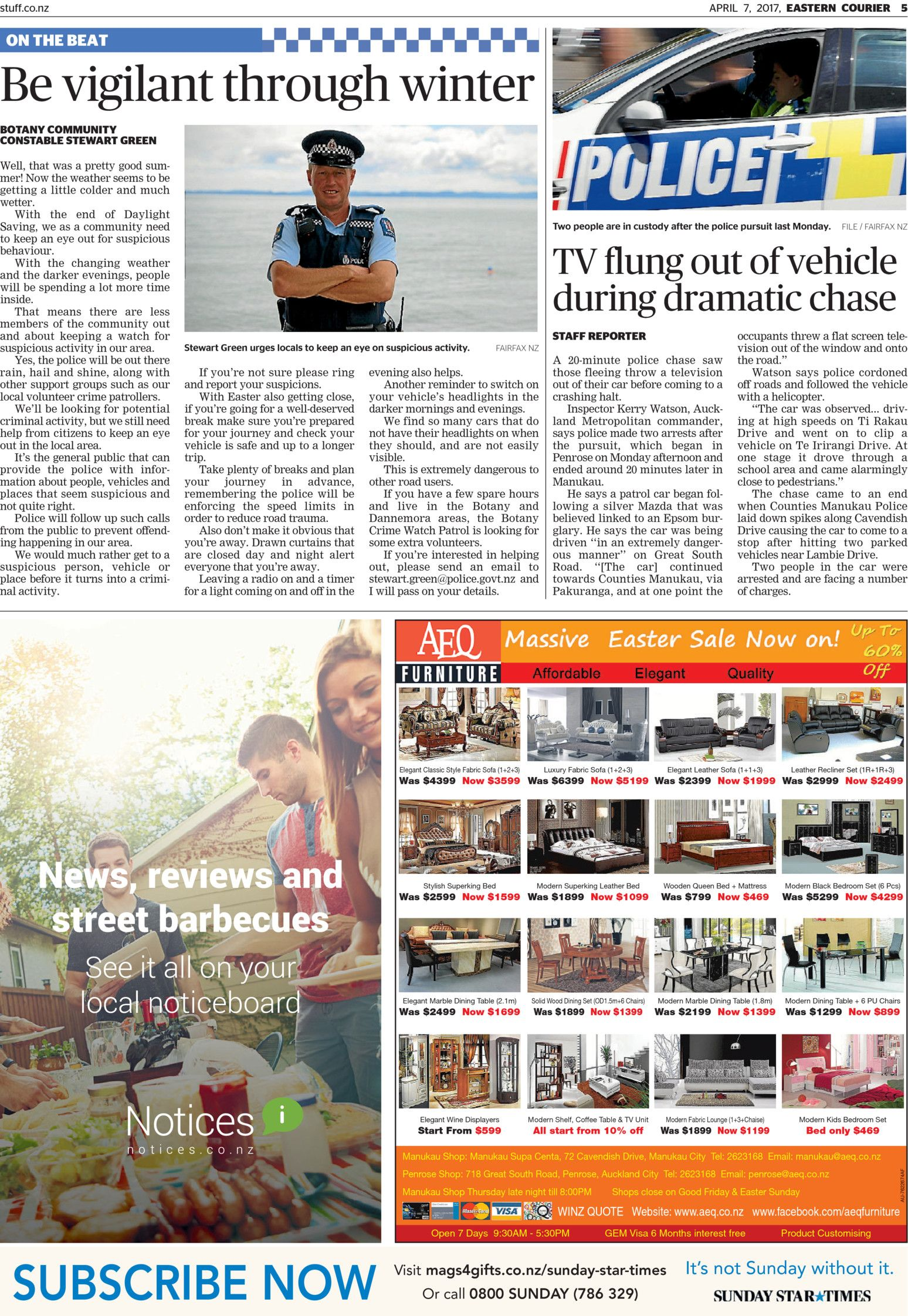 Eastern Courier Read online on Neighbourly