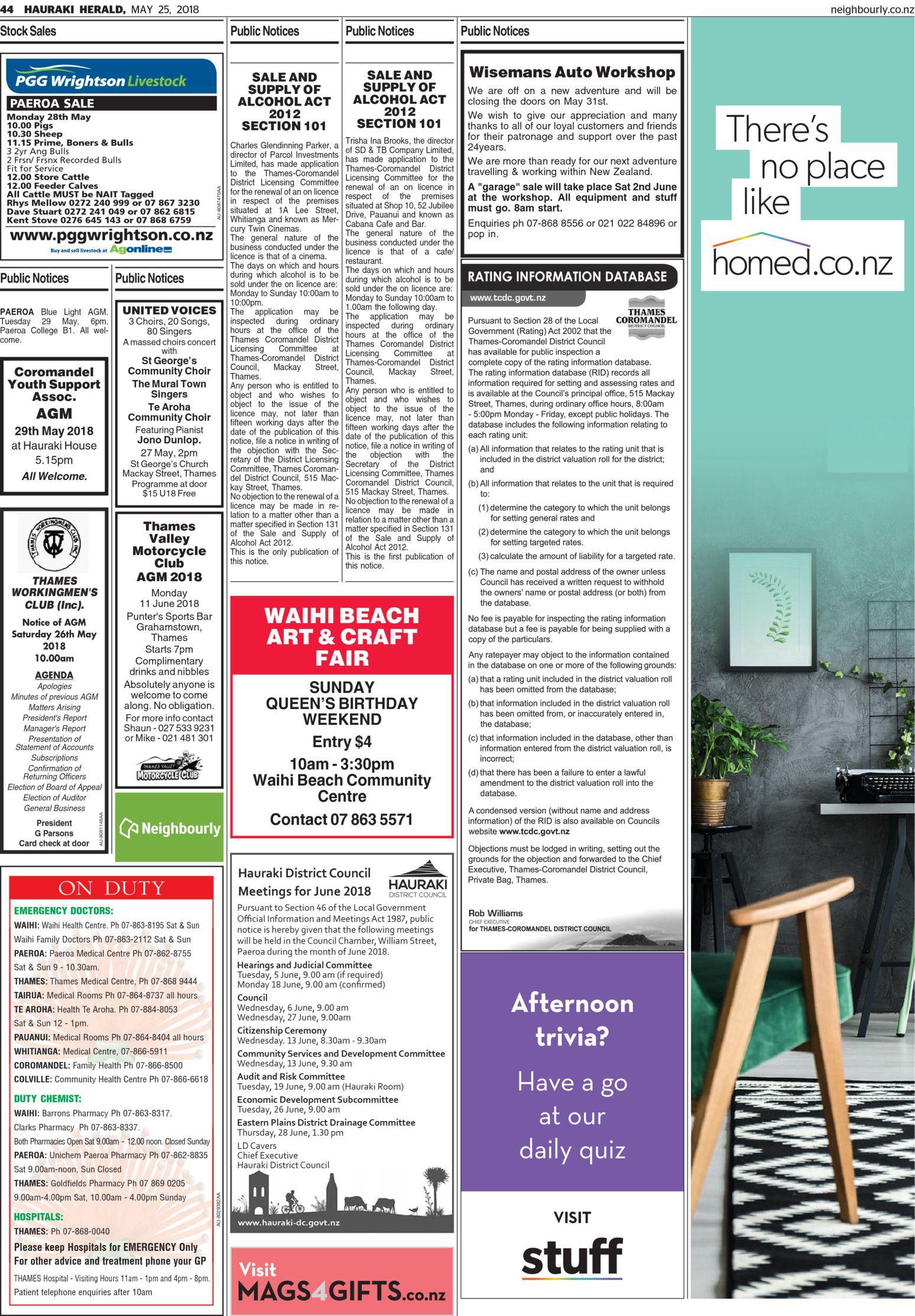 Hauraki Herald - Read online on Neighbourly